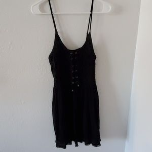 Lace Tie Front Dress